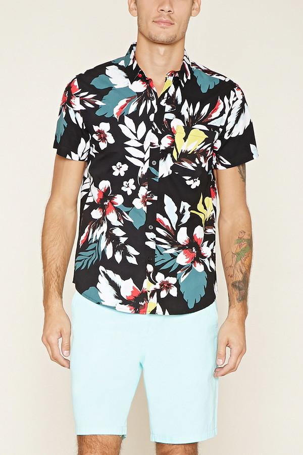 a9a7b17b312 $19, 21men 21 Tropical Floral Print Shirt