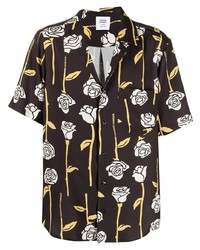 Opening Ceremony Allover Roses Asym Ss Shirt Black Papy