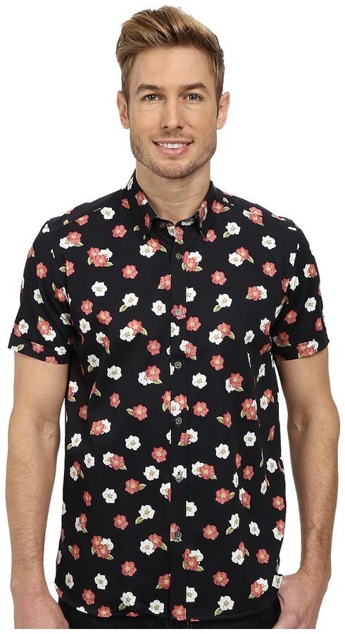297eaa7e291 ... Ted Baker Belleek Short Sleeve Floral Print Shirt ...