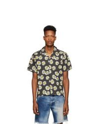 John Elliott Black Bowling Short Sleeve Shirt