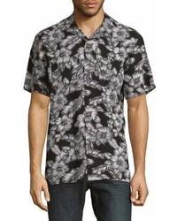 Black & Brown Black Brown Short Sleeve Floral Button Down Shirt