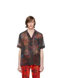 Dries Van Noten Black Floral Carltone Shirt