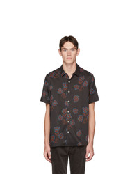 Ps By Paul Smith Black Floral Casual Fit Shirt