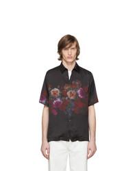 Dries Van Noten Black Floral Clasen Shirt