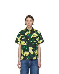 MSGM Black Floral Shirt