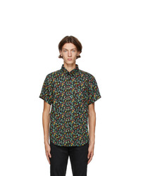 Naked and Famous Denim Black Floral Shirt