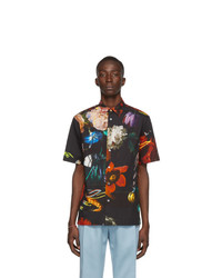 Paul Smith Black Floral Short Sleeve Shirt
