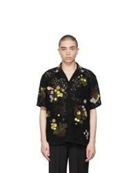 Valentino Black Lace Macrame Short Sleeve Shirt