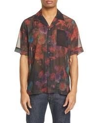 Dries Van Noten Carltone Floral Short Sleeve Button Up Shirt
