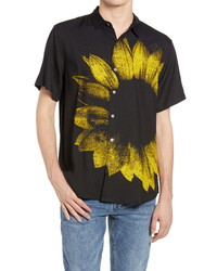 Ksubi Dazed Floral Tie Dye Short Sleeve Button Up Shirt