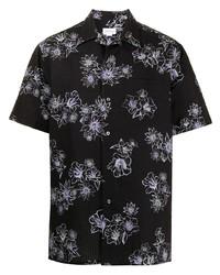 Brioni Floral Print Crinkled Shirt