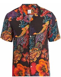 Paul Smith Floral Print Short Sleeved Shirt
