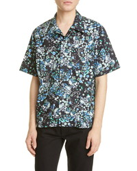 Givenchy Hawaii Floral Short Sleeve Button Up Camp Shirt