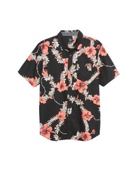 Vans Leid To Rest Classic Fit Floral Short Sleeve Button Up Shirt