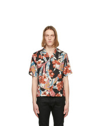 Saint Laurent Multicolor Tropical Short Sleeve Shirt