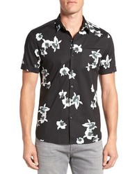 My wish short sleeve floral print sport shirt medium 667522