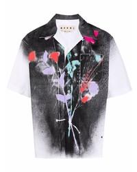 Marni Paint Splatter Print Shirt