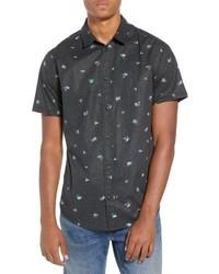 Scattered print woven shirt medium 8799613