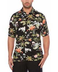 Cubavera Short Sleeve Floral Button Front Shirt