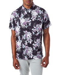 7 Diamonds Slim Fit Floral Short Sleeve Button Up Sport Shirt