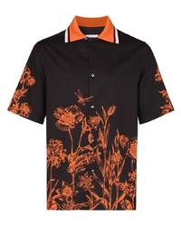 Salvatore Ferragamo Wildflower Print Short Sleeve Shirt