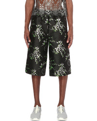 Astrid Andersen Floral Overlay Woven Shorts