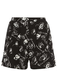 Dorothy Perkins Black And White Floral Shorts
