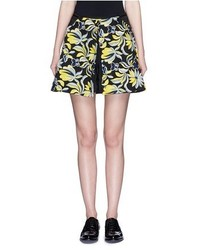 Cynthia Xiao Removable Floral Embroidery Flap Shorts