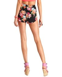 Charlotte Russe Floral Print High Waisted Dolphin Shorts | Where ...