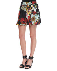 Alice + Olivia Floral Print Jersey Shorts