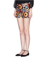 Alice + Olivia Sherri Floral Embroidery Shorts