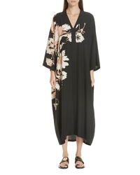 Etro Floral Print Silk Caftan Dress