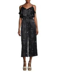 Rachel Zoe Floral Silk Cropped Jumpsuit