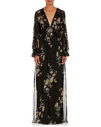 Zimmermann Maples Feathery Floral Silk Chiffon Jumpsuit