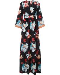 Etro Floral Wrap Maxi Dress