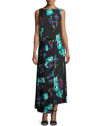 Sleeveless floral printed maxi dress medium 3942891