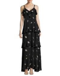 Zadena floral print silk maxi dress medium 4398248
