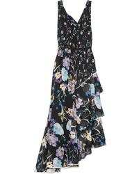 3.1 Phillip Lim Tiered Floral Print Silk Crepon Maxi Dress