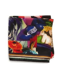 Paul Smith Rose Collage Silk Pocket Square