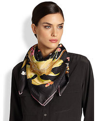 Salvatore Ferragamo Energia Jungle Printed Foulard Scarf