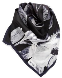 Vince Camuto Floating Florals Square Silk Scarf