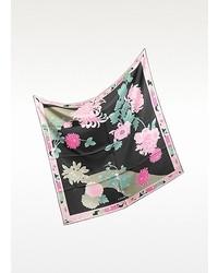 Leonard Guarani Floral Print Silk Square Scarf