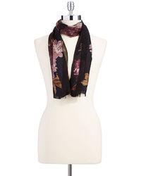 Lauren Ralph Lauren Silk Floral Fashion Scarf