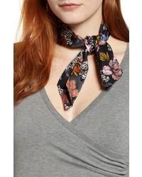 Halogen X Atlantic Pacific Floral Print Silk Scarf
