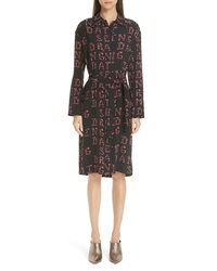 Etro Dancing Print Silk Dress