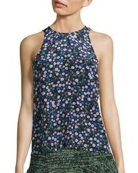 Rebecca Taylor Juliet Silk Floral Print Tank Top