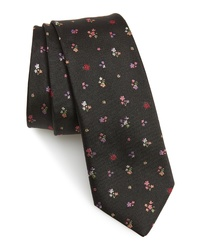 Paul Smith Floral Jacquard Skinny Silk Tie