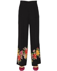 Floral hem silk crepe de chine pants medium 3734207