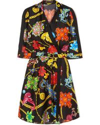 Versace Printed Silk Twill Wrap Dress