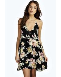 Forever 21 Clustered Rose Skater Dress Where To Buy